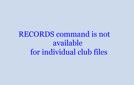 RECORDS command is not available for individual club files